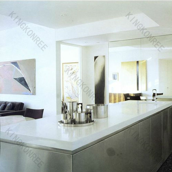 Man made artificial sparkle quartz stone countertop pure white for Man made quartz countertop