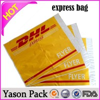 Yason mailing bag/post bag/courier mail bags air express coloured poly courier bag with self adhesive made in china