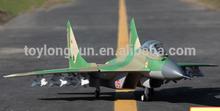 2.4g mig-29 rtf color ultraligero de fumar de aeronaves para la venta