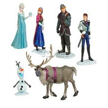 plastic frozen pvc figure,3d cartoon frozen elsa toys,custom frozen figure cake topper