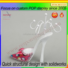 For retail shop P.O.P shoe shaped jewelry stand