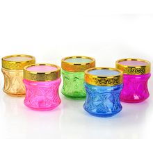 Beautiful Colorful galss jar glass food container jar for Indonesia