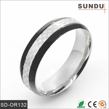 (OR0132) 2015 Factory direct wholesale black heart 304 316L stainless steel silver pigeon ring