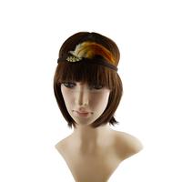 New Arrival Bohemia natural feather suede braided headband/hair wrap/hair band