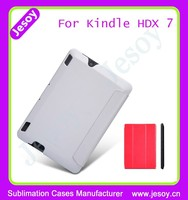 JESOY Hot Selling Mobile Phone Flip Cover, Sublimation Case For Kindle Fire Hdx 7