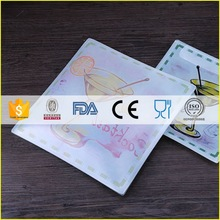 Low price professional hotel glass plates serving dishes