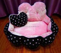 senior fashional heart shaped dog nest ,super soft washable pet bed