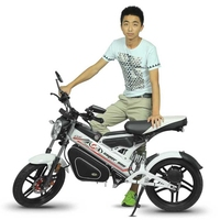 United Kingdom 1500W Folding Electric Motorcycle 48V 20AH For Adult