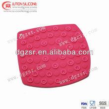 2012 on sale top fashion square shape silicone hot pot mat
