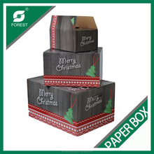 2015 NEW CUSTOM DESIGN DECORATED PAPER CHRISTMAS GIFT BOX