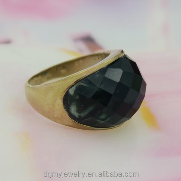 Goldring mit schwarzem stein  Heißer verkauf goldring designs für jungen, goldring mit schwarzem ...