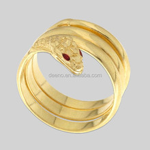 Gold Plated Jewelry Stainless Steel Aldo Snake Shaped Design Ring