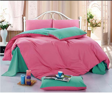 Pure 100% cotton Quality hotal,house home Plain solid color bedding sheet duvet cover sets