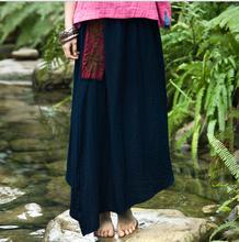 2014 l'été chaud vente vintage style broderie 100% coton jupes longues pour les femmes