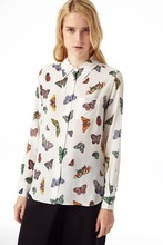 wholesale fashion batterfly printed girls tops