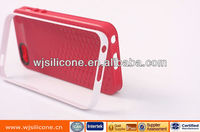 silicone and pc phone case for iphone 5