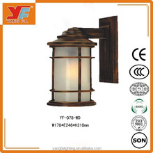 Anqitue brass outdoor light/copper wall light/outdoor wall lamp