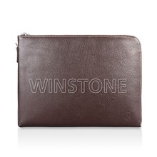 Genuine leather Clutch Office Document Bag With Compartment for men