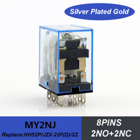 2NO+2NC AC110V 24vac relay miniature relay MY2N HH52P with green color led electrical relay