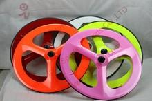 promotion carbon 3 spoke bike wheels 3 spoke fixed gear wheel carbon road wheels