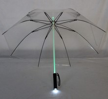 led transparent/clear umbrella flashlight umbrella