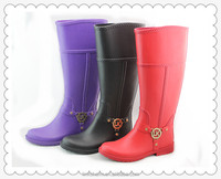 2014 ladies Rain boots with buckles and braid design