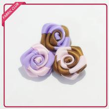 Mini Lacework Satin Ribbon White Rose Flower/leaves/wedding/craft /bows