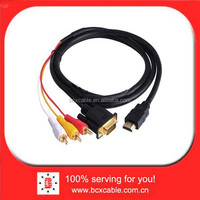1080p HDMI to VGA HD15 3 RCA Converter Adapter Cable For HDTV