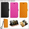 2015 new product leather wallet case for iphone 6