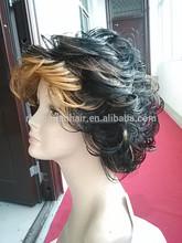 2015 Hot Sale! Kanekalon Fiber Short Curly wig, Synthetic wig