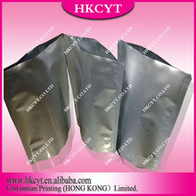 High quality stand up aluminum foil bags/silver bottom gusset packing bags