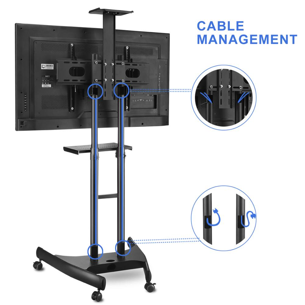 360 Pivotant Nouveau Design Meuble Tv Mobile Floor Stand Avec  # Meuble Tv Avec Bras Pivotant