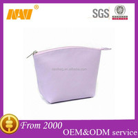 Elegant PU small cosmetic bag stand up pouch ladies makeup bag organizer custom toiletry bag