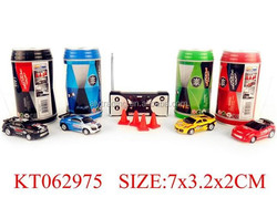 Farah toys lowest price and kids favorite magic Four-way coke cans mini remote control car with light