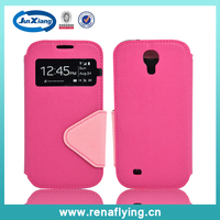 2014 PINK TPU leather phone case for samsung S5, for samsung s5 covers and cases