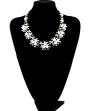 Wholesale new Z design fashion chain callar bib statement necklace costume choker peal Necklaces luxury jewelry women