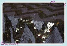 YHT#158 chevron sequin polyester banquet wedding wholesale cheap table cloth linen overlay