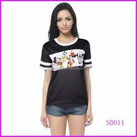 China wholesale new fashion t-shirt women 2015