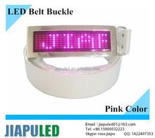 Scrolling Message rechargeable rhinestone designer pink led belt buckles for men(LED Belt Buckles)