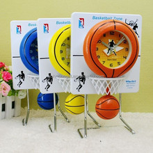 Wholesale Cheap Plastic Basketball Vibrating Table Clock For Kids Gifts or Promotion Gifts