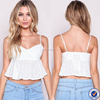 wholesale price high quality peplum crop top casual designer blouse for women