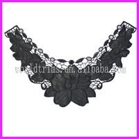 New design embroidery pu leather neck /collar lace of ladies WNL163