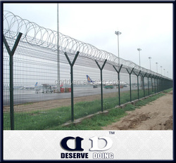 "buy direct from china factory 76.2mm (3"") x 12.7mm (0.5"") Easily assembled Pvc coated 358 airport fence"