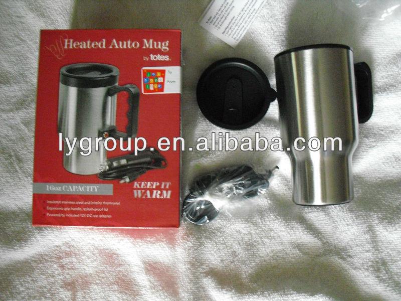 12 volt chauffée de tasse voyage automatique, 14 oz tasse voyage thermos de café avec chauffage de la voiture
