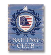 Wholesale Arts And Crafts Sailing Club Decorative Wooden Plaque