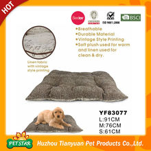 Breathable Durable Material Vintage Pattern Pet Cushion Pet Bed
