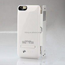"Golden black white battery charger power pack flip power bank case for iphone 6 plus 5.5"" 5.5 Inch"
