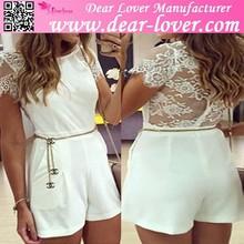 Verano de encaje blanco atractivo del mameluco ropa para mujeres 2015