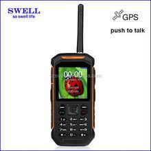 waterproof smartphone function mobile phone mini 2.4inch GSM SOS GPS dual sim IP67 walkie talkie cellphone X6