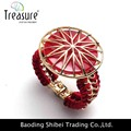 Moda rojo encanto de la aleación pulseras y brazaletes reloj para la mujer